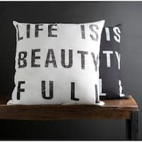The Gray Barn Red Rock 'Life is Beauty Full' 22-inch Print Pillow