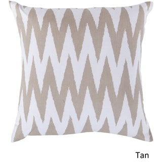 Decorative Snodland 22-inch Chevron Poly or Down Filled Pillow