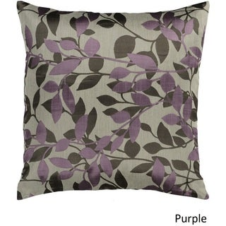 Decorative Skegness 22-inch Leaves Poly or Down Filled Pillow