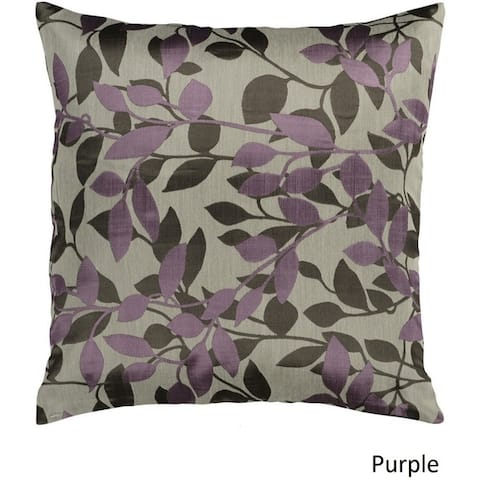 Decorative Skegness 22-inch Leaves Poly or Feather Down Filled Pillow