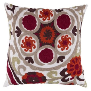 Decorative Sidmouth 22-inch Embroidered Poly or Down Filled Pillow