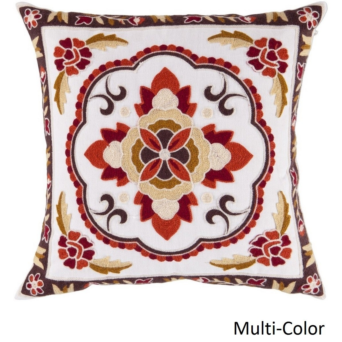 Decorative Sandbach 22-inch Flourish Poly or Feather Down Filled Pillow (Down)