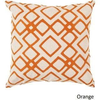 Decorative Rothwell 22-inch Trellis Poly or Feather Down Filled Pillow