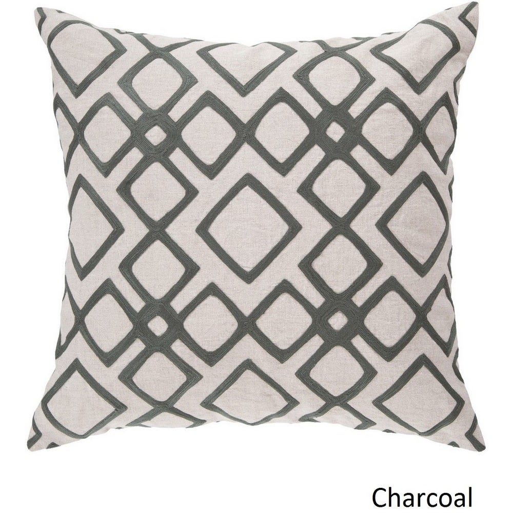 Shop Decorative Rothwell 22-inch Trellis Poly or Feather Down Filled Pillow - Overstock - 10708146