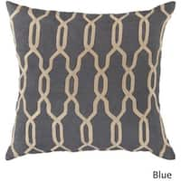 Decorative Rochford 22-inch Trellis Poly or Feather Down Filled Pillow
