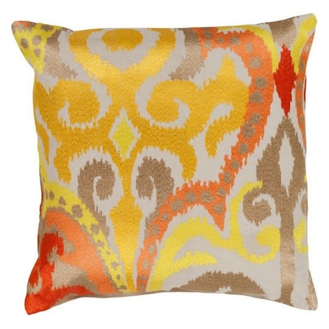 Decorative Penzance 22-inch Flourish Ikat Poly or Feather Down Filled Pillow