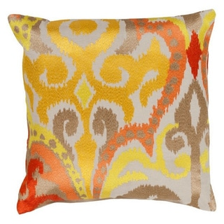Decorative Penzance 22-inch Flourish Ikat Poly or Down Filled Pillow