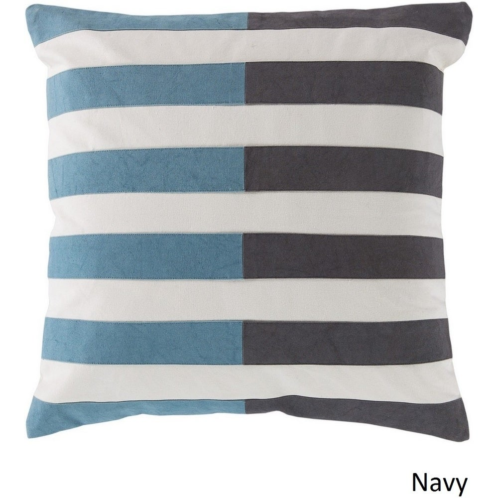 Shop Decorative Petworth 20-inch Check Poly or Feather Down Filled Pillow - Overstock - 10708156