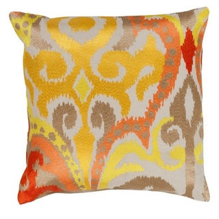 Decorative Penzance 20-inch Flourish Ikat Poly or Feather Down Filled Pillow