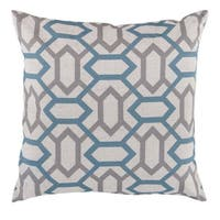 Decorative St.Mawes 18-inch Trellis Poly or Feather Down Filled Pillow