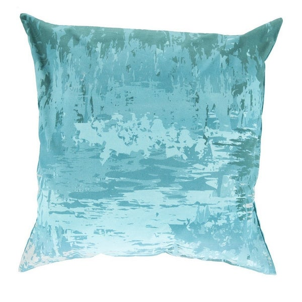 Decorative Southsea 18-inch Abstract Poly or Feather Down Filled Pillow