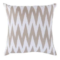 Decorative Snodland 18-inch Chevron Poly or Feather Down Filled Pillow
