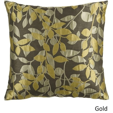 Decorative Skegness 18-inch Leaves Poly or Feather Down Filled Pillow