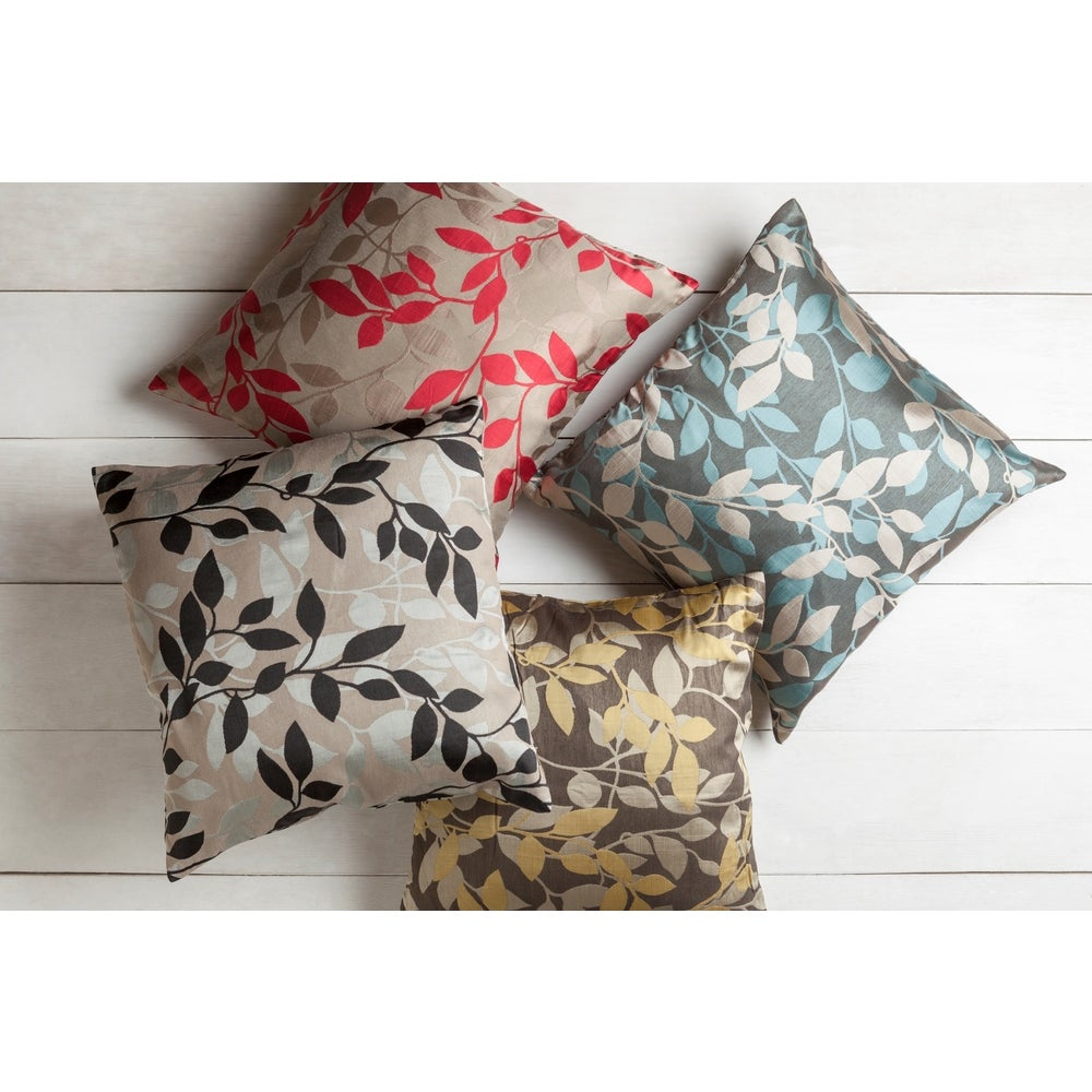 Shop Decorative Skegness 18-inch Leaves Poly or Feather Down Filled Pillow - 10708180
