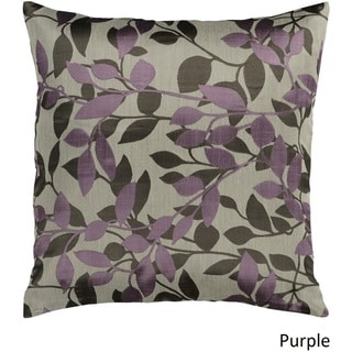 Decorative Skegness 18-inch Leaves Poly or Down Filled Pillow