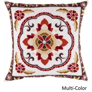 Decorative Sandbach 18-inch Flourish Poly or Feather Down Filled Pillow