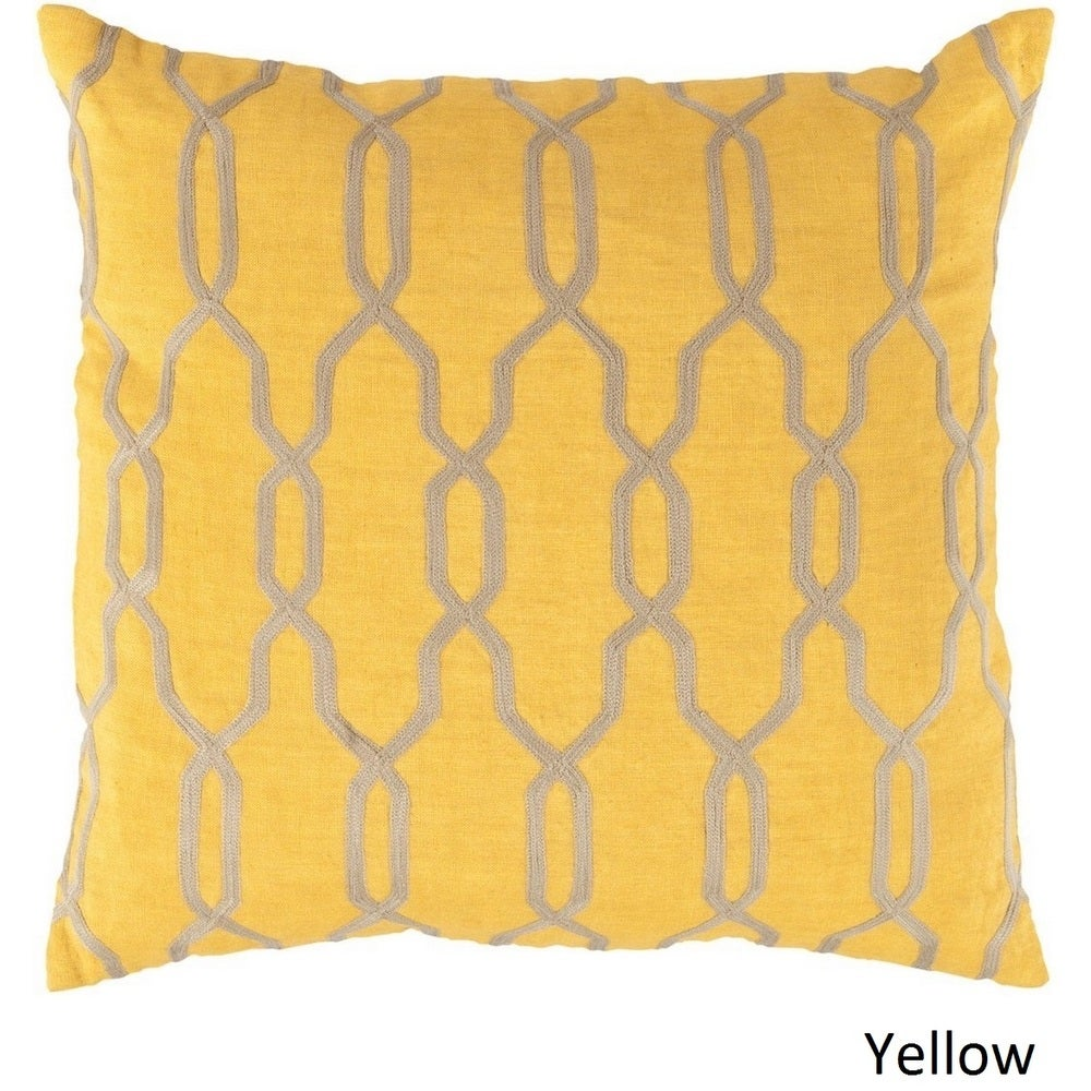 Shop Decorative Rochford 18-inch Trellis Poly or Down Filled Pillow - Overstock - 10708188