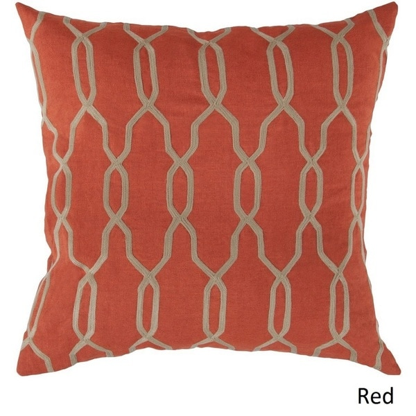 Decorative Rochford 18-inch Trellis Poly or Down Filled Pillow