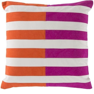 Decorative Petworth 18-inch Check Poly or Feather Down Filled Pillow