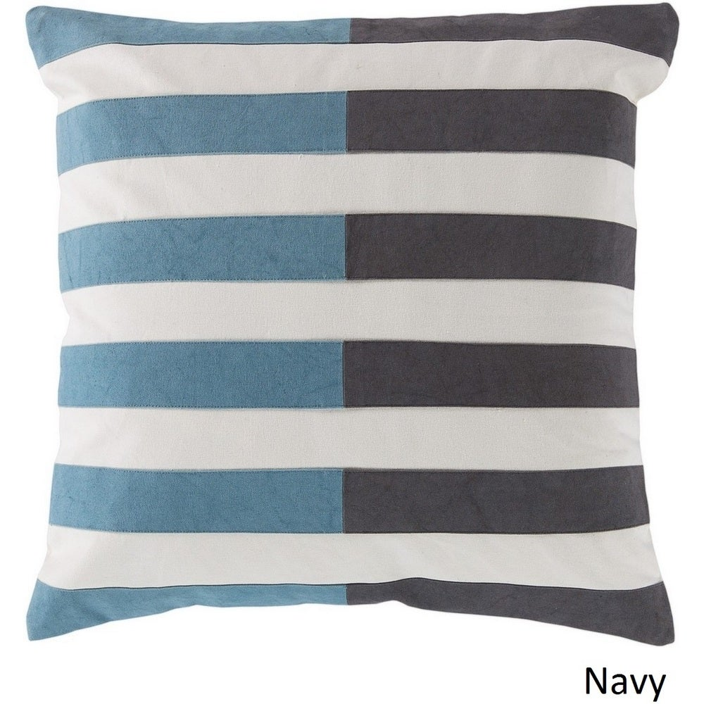 Shop Decorative Petworth 18-inch Check Poly or Feather Down Filled Pillow - Overstock - 10708189