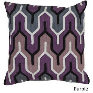 Decorative Peterlee 18-inch Geometric Poly or Down Filled Pillow