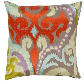 Decorative Penzance 18-inch Flourish Ikat Poly or Down Filled Pillow