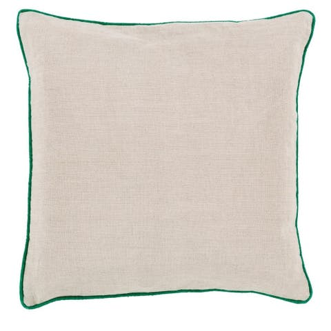 Decorative Kirwan 22-inch Poly or Feather Down Filled Pillow