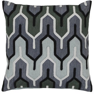 Decorative Peterlee 22-inch Geometric Poly or Down Filled Pillow