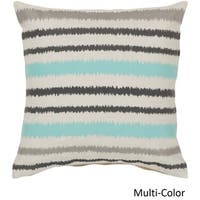 Decorative Pershore 22-inch Striped Ikat Poly or Feather Down Filled Pillow