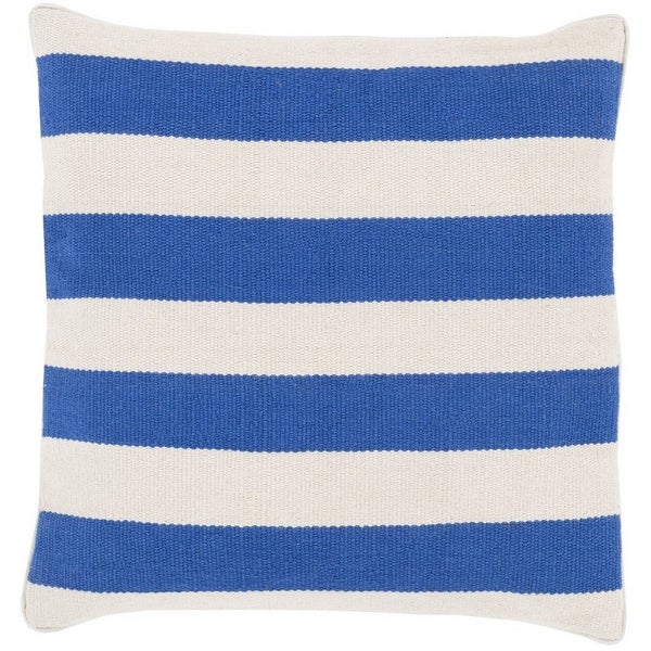 Decorative Redditch 20-inch Stripe Poly or Feather Down Filled Pillow