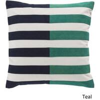 Decorative Petworth 20-inch Check Poly or Feather Down Filled Pillow