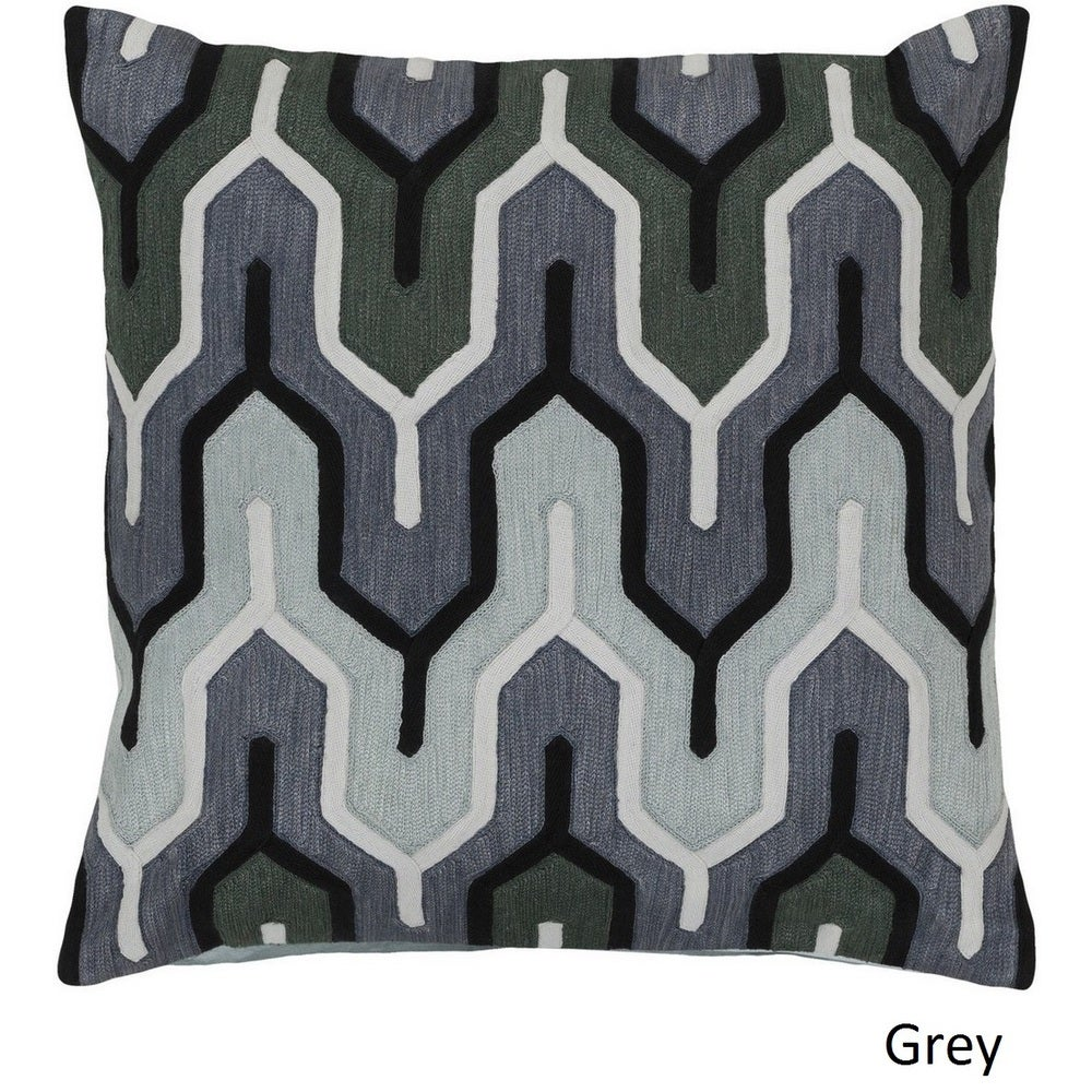 Shop Decorative Peterlee 20-inch Geometric Poly or Feather Down Filled Pillow - Overstock - 10708226
