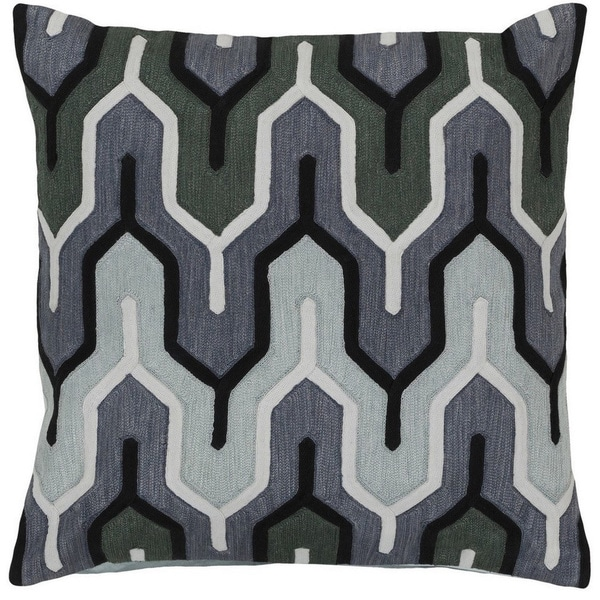Decorative Peterlee 20-inch Geometric Poly or Feather Down Filled Pillow