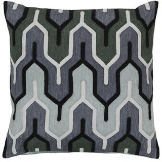 Decorative Peterlee 20-inch Geometric Poly or Down Filled Pillow (4 options available)