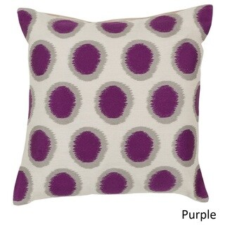 Decorative Balin 20-inch Poly or Down Filled Pillow