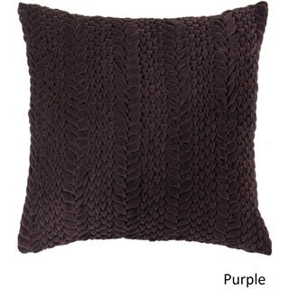 Decorative Solihull 18-inch Textured Poly or Feather Down Filled Pillow