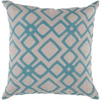 Decorative Rothwell 18-inch Trellis Poly or Feather Down Filled Pillow