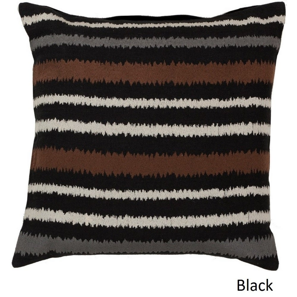 Shop Decorative Pershore 18-inch Striped Ikat Poly or Feather Down Filled Pillow - 10708247