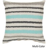 Decorative Pershore 18-inch Striped Ikat Poly or Feather Down Filled Pillow