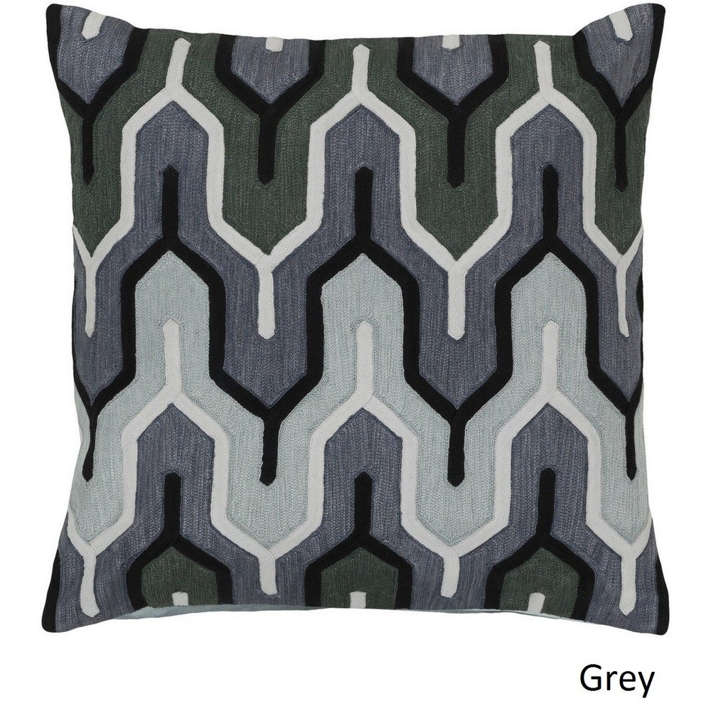 Shop Decorative Peterlee 22-inch Geometric Pillow Cover - Overstock - 10708261