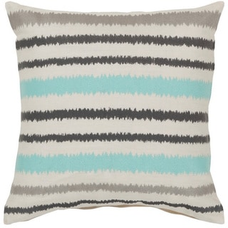 Decorative Pershore 22-inch Striped Ikat Pillow Cover