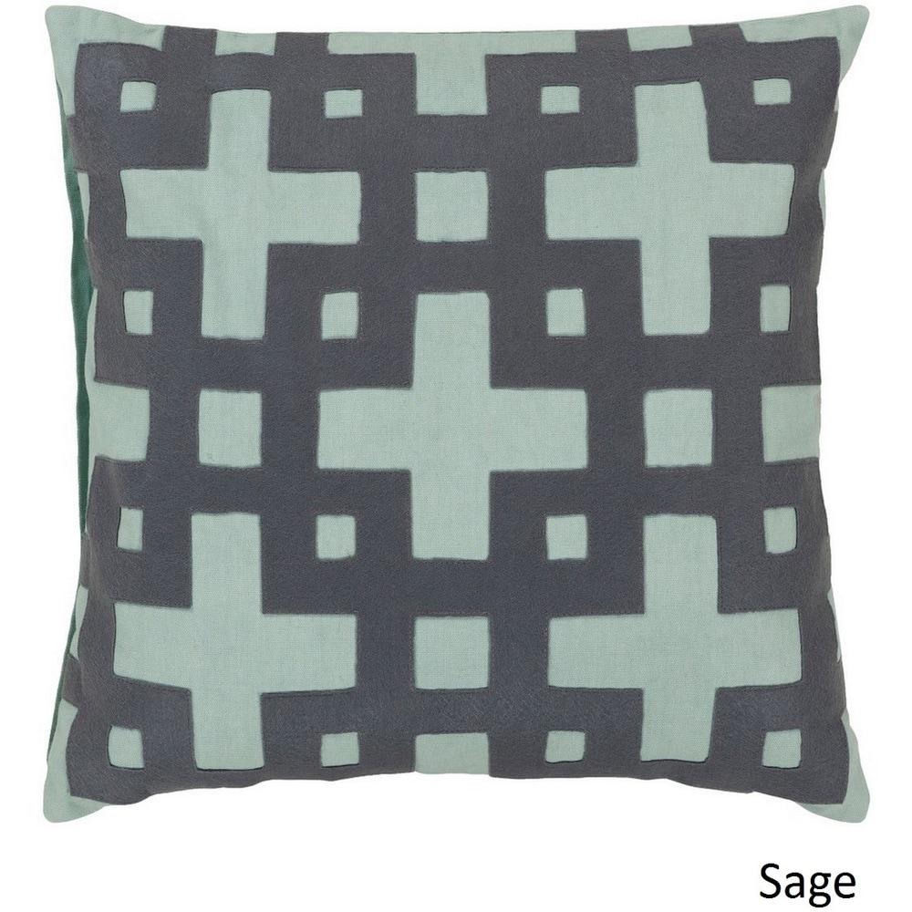 Shop Jones 22-inch Decorative Geometric Pillow Cover - Overstock - 10708266
