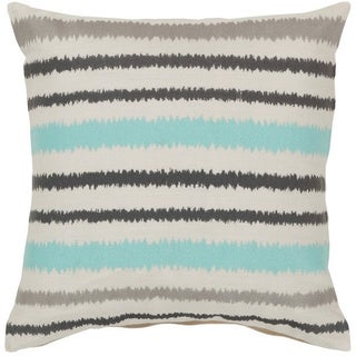 Decorative Pershore 20-inch Striped Ikat Pillow Cover