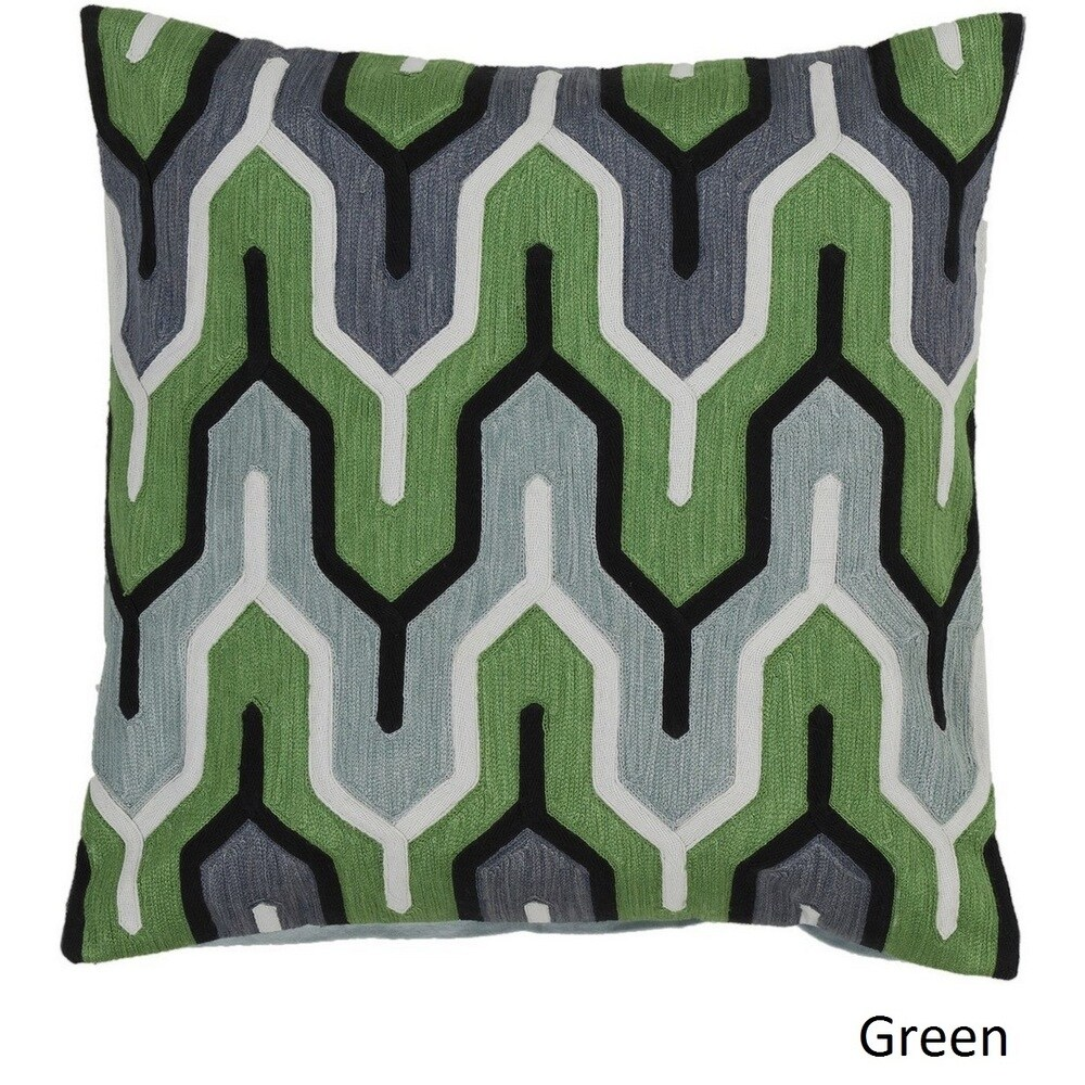 Shop Decorative Peterlee 18-inch Geometric Pillow Cover - Overstock - 10708283