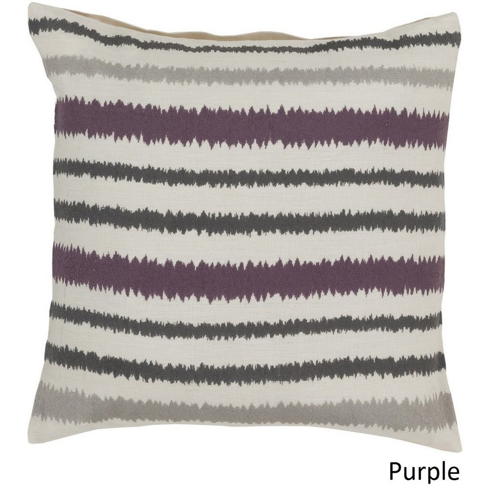 Shop Decorative Pershore 18-inch Striped Ikat Pillow Cover - Overstock - 10708284