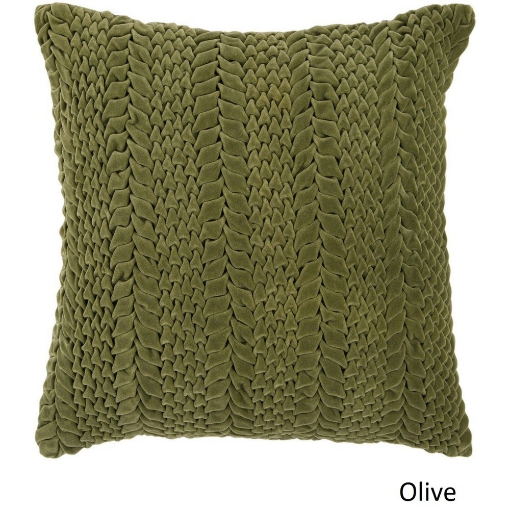Shop Decorative Solihull 22-inch Textured Pillow Cover - 10708289