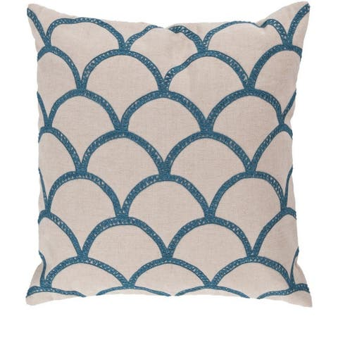 Decorative Rothbury 22-inch Embroidered Pillow Cover