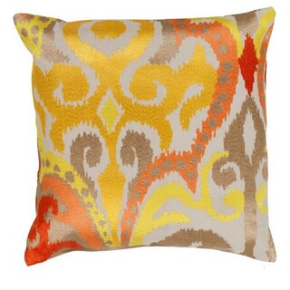 Decorative Penzance 20-inch Flourish Ikat Pillow Cover