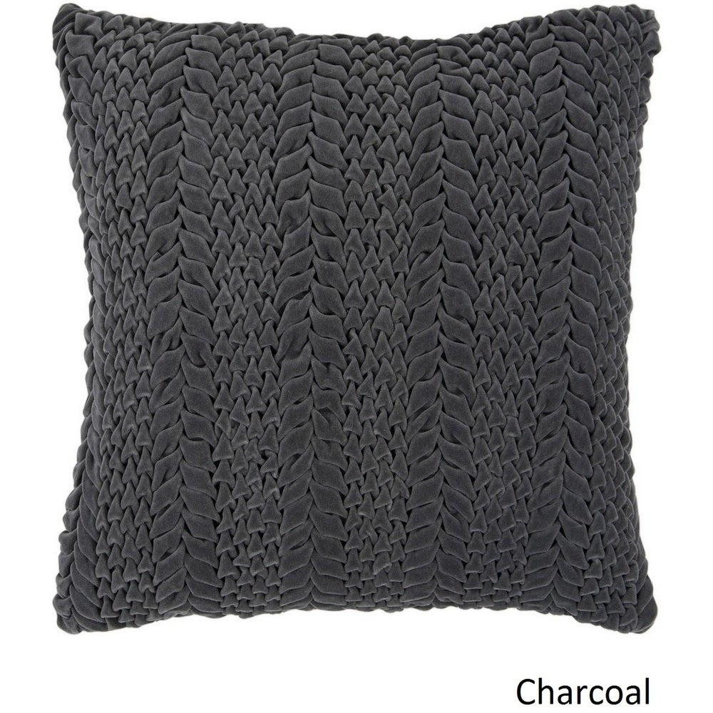 Shop Decorative Solihull 18-inch Textured Pillow Cover - 10708311