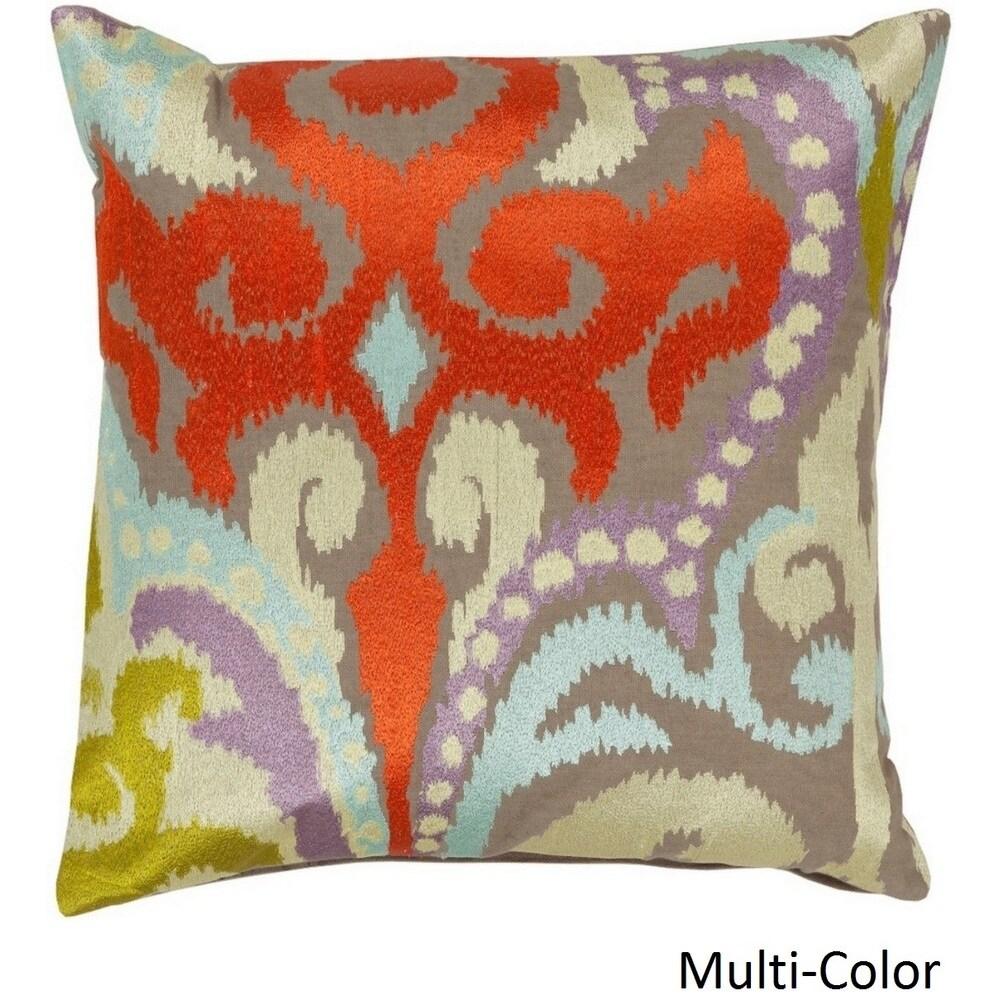 Shop Decorative Penzance 18-inch Flourish Ikat Pillow Cover - 10708325